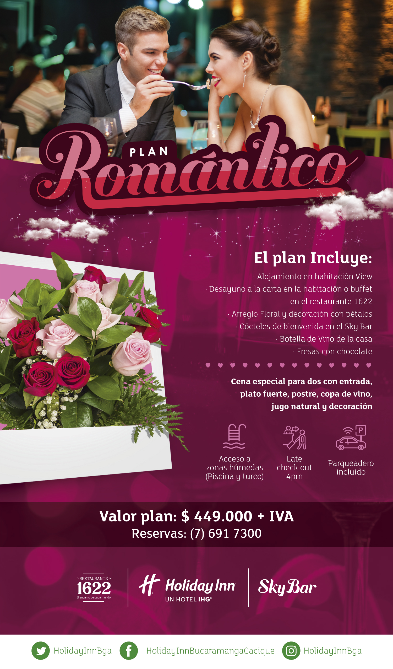 Plan Escape Romántico con cena